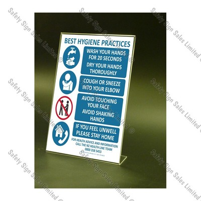 CYO|CV13S – COVID19 Counter-top Sign