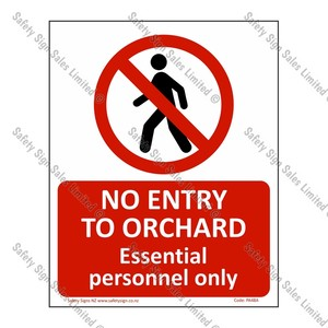 CYO|PA48A – No Entry To Orchard