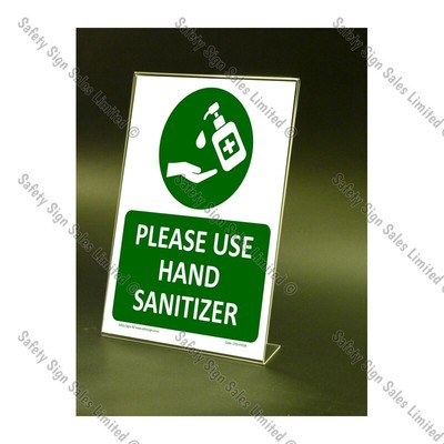 CYO|CV08S – Hand Sanitizer Counter-top Sign