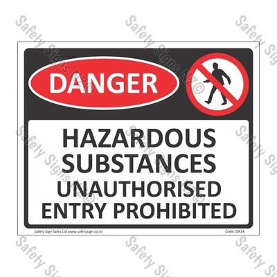 DA14 - Hazardous Substances Sign