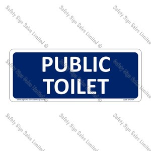 CYO|GA143A - Public Toilet Sign