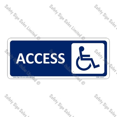 CYO|GA147 – Accessible Toilet Sign