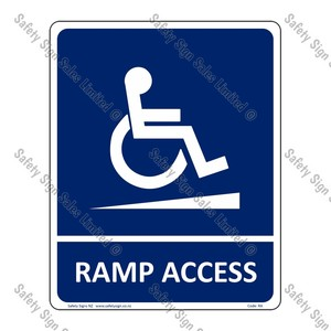 RA – Ramp Access Sign