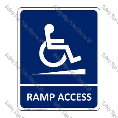 RA – Ramp Access Sign