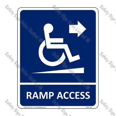 RA1 – Ramp Access Arrow Right Sign