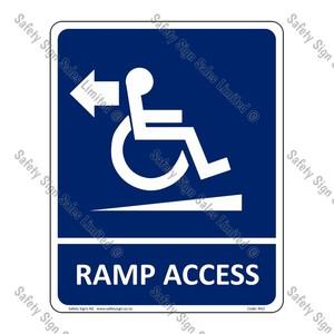 RA2 – Ramp Access Arrow Left Sign