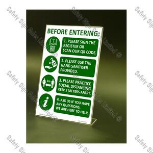 CYO|CV17S – Covid Entrance Sign