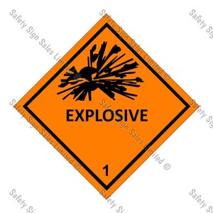 CYO|DG1.1 - CLASS 1.1, 1.2 - Explosive Dangerous Goods Sign