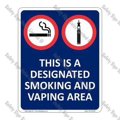 CYO|GA700 - Designated Smoking Sign