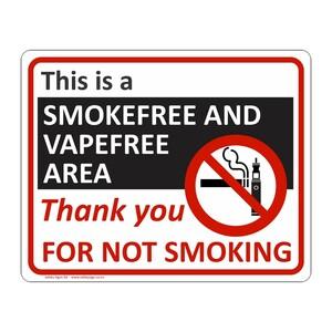 CYO|PA29 - Smokefree and Vapefree Area Sign
