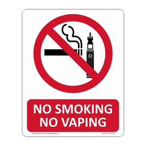 CYO|PA41B - No Smoking or Vaping Sign