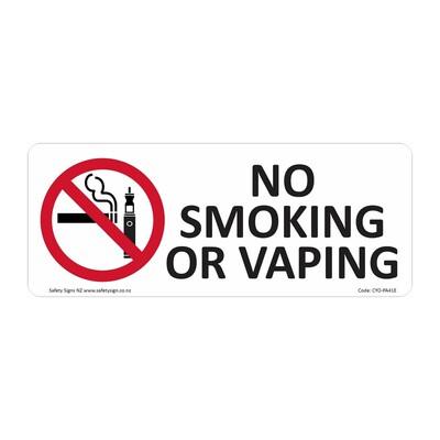 CYO|PA41E - No Smoking or Vaping Sign