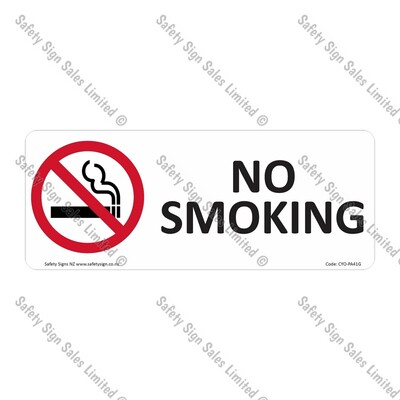 CYO|PA41G - No Smoking Sign