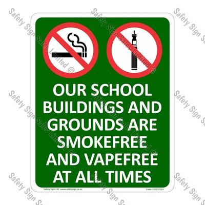 CYO|SF01A - Smokefree and Vapefree School Sign
