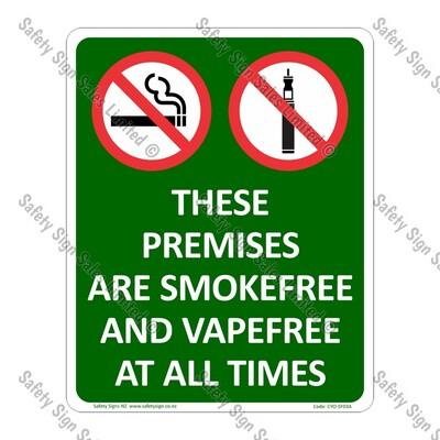 CYO|SF03A - Premises Smokefree and Vapefree Sign