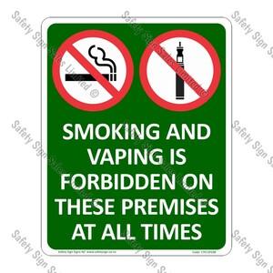 CYO|SF03B - Smoking and Vaping Premises Sign