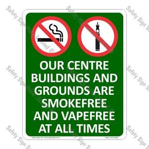 CYO|SF08A - Smokefree and Vapefree Centre Sign