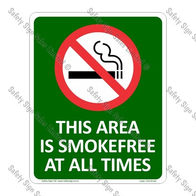 CYO|SF16C - Smokefree Area Sign