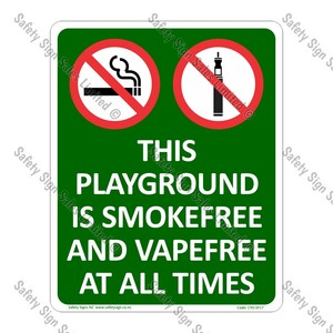 CYO|SF17 - Playground Smokefree and Vapefree Sign