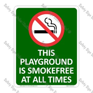 CYO|SF17C - Smokefree Playground Sign