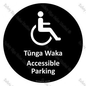 CYO|A25BIA - Tūnga Waka Accessible Parking Sign