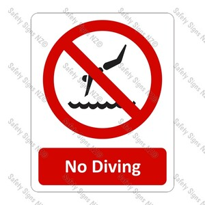 CYO|PA18 – No Diving Sign