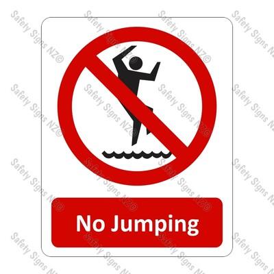 CYO|PA21 – No Jumping Sign