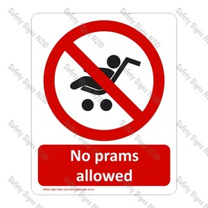 CYO|PA11 – No Prams Allowed Sign