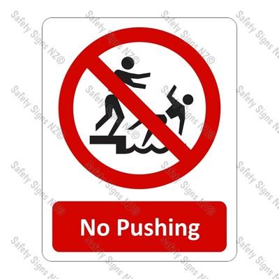 CYO PA22 – No Pushing Sign