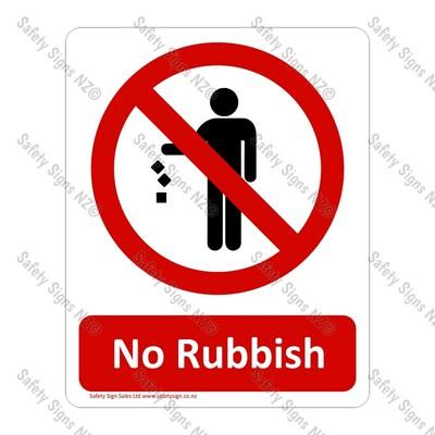 CYO|PA12 – No Rubbish Sign