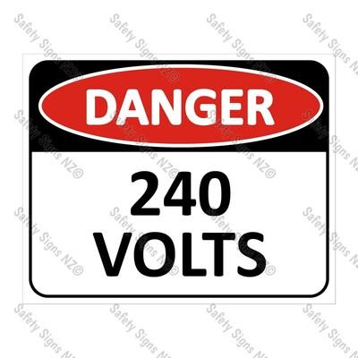 CYO|DA10 - 240 Volts Sign