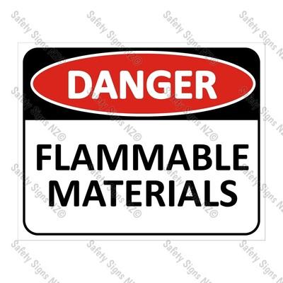 CYO|DA11 - Flammable Materials Sign