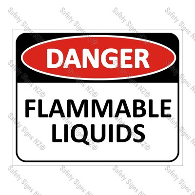 CYO|DA12 - Flammable Liquids Sign