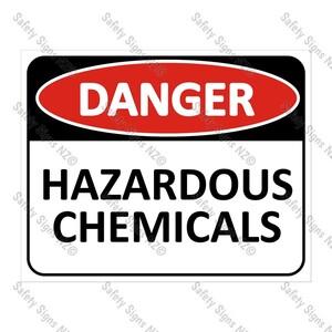 CYO|DA14A - Hazardous Chemicals Sign