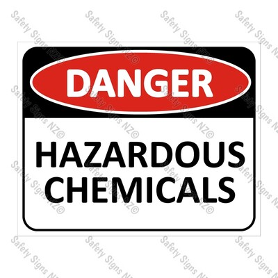 CYO|DA14A - Hazardous Chemicals Sign