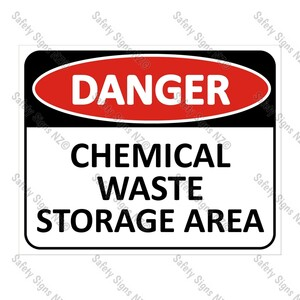 CYO|DA15 - Chemical Waste Storage Sign