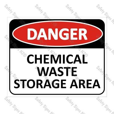 CYO|DA15 - Chemical Waste Storage Sign