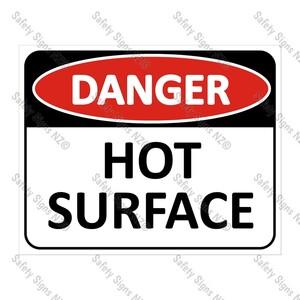 CYO|DA16 - Hot Surface Sign