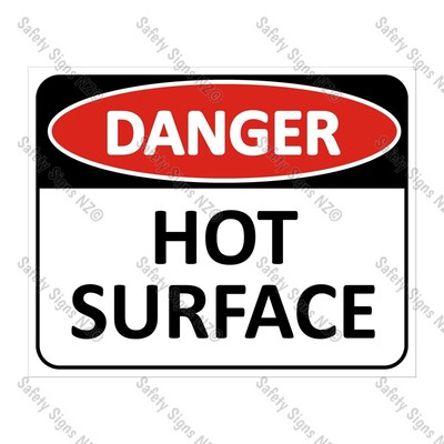 CYO|DA16 - Hot Surface Sign