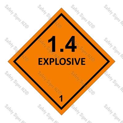CYO|DG1.4 - Explosive Dangerous Goods Sign