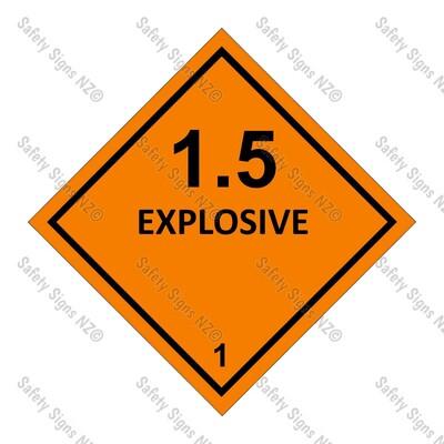 CYO|DG1.5 - Explosive Dangerous Goods Sign