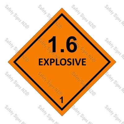CYO|DG1.6 - Explosive Dangerous Goods Sign