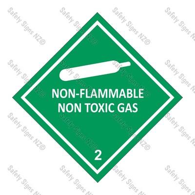 CYO|DG2.2 - Non Flammable Gas Dangerous Goods Sign