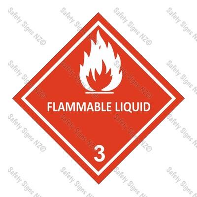 CYO|DG3 - Flammable Liquid Dangerous Goods Sign