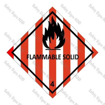 CYO|DG4.1 - Flammable Solid Dangerous Goods Sign