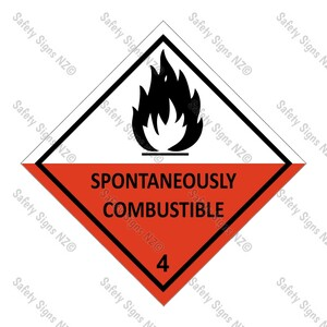 CYO|DG4.2 - Spontaneously Combustible Sign