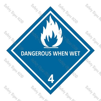 CYO|DG4.3 - Dangerous When Wet Dangerous Goods Sign