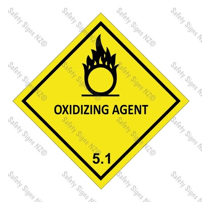 CYO|DG5.1 - Oxidizing Agent Dangerous Goods Sign