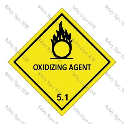 CYO|DG5.1 - Oxidizing Agent Dangerous Goods Sign