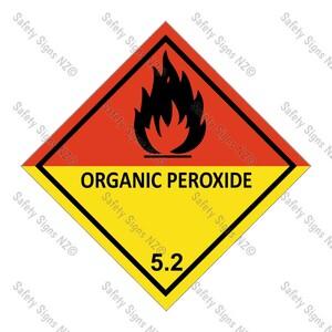 CYO DG5.2 - Organic Peroxide Dangerous Goods Signv